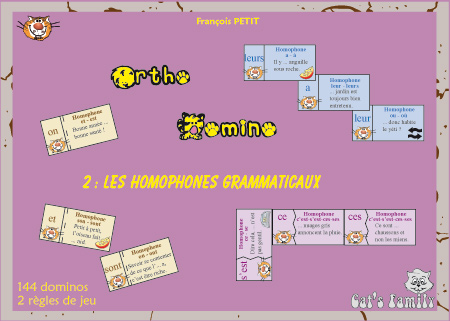 Ortho Domino 2 Les Homophones Grammaticaux Jeu De Dominos Sur L